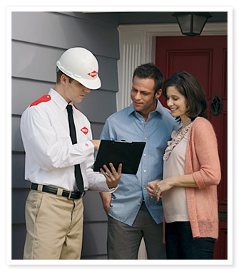 Orkin Man consulting home owners